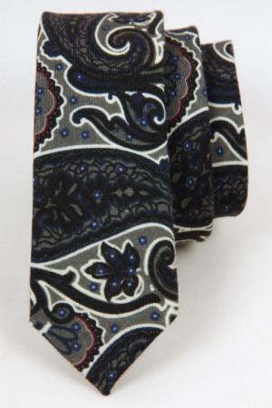 Mønstret Slips inkl. lommeklud