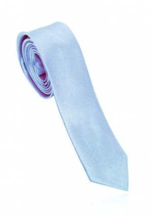 Smalt isblåt slips i polyester