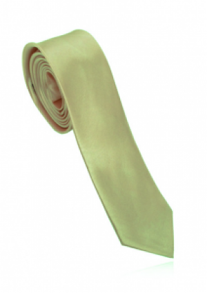 Smalt slips i lys guld farve