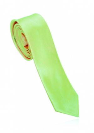 Smalt lyst limegrønt polyester slips