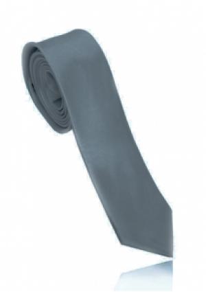 Smalt gråt slips i polyester