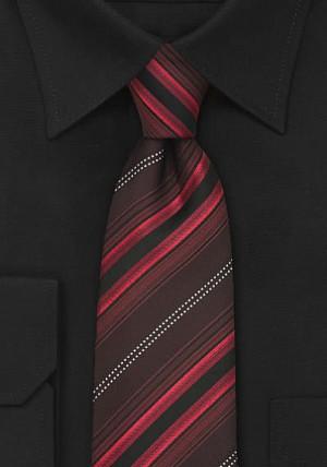 Rødstribet slips i silke