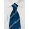 Silkeslips blåt med striber