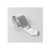 Smalt sølvfarvet polyester slips