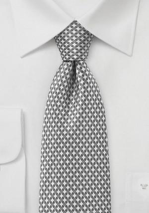 Hvidt slips med ternet mønster