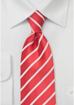 Silkeslips rød stribet og hvid skjorte