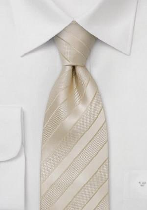 Hvidstribet slips i silke