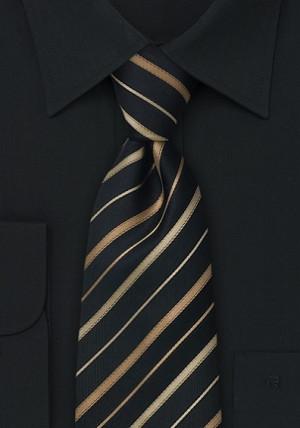 Sortstribet slips i silke
