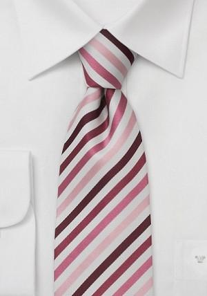 Hvidt stribet slips i silke