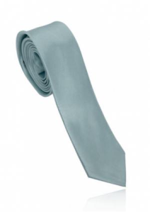 Smalt sølv-gråt slips