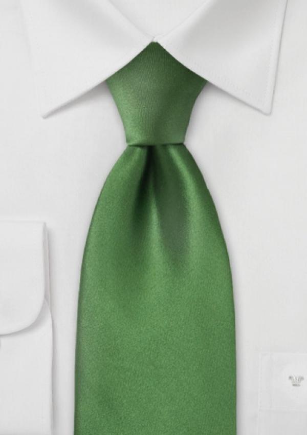 Grønt silkeslips