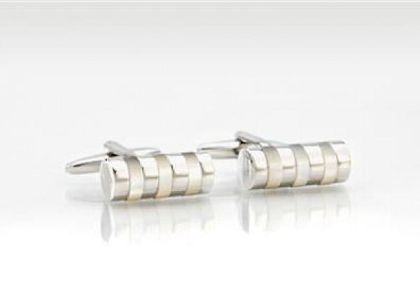 Manchetknapper i sølv-design