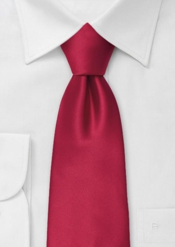 Rødt silkeslips