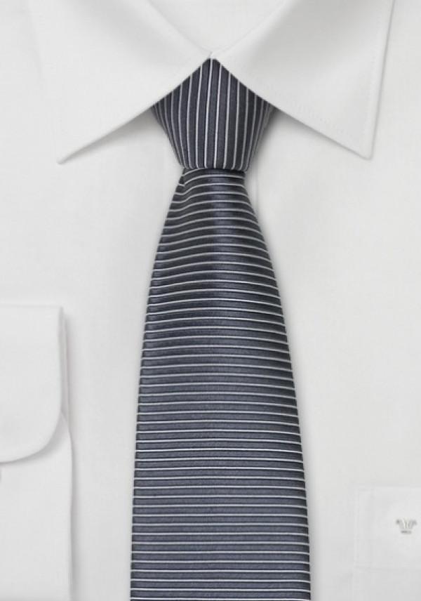Silkeslips grå-sort square-end