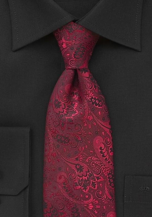 93979bc1 Flot rød mønstret slips i silke - Se slipset HER!