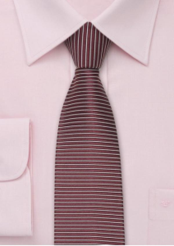 Silkeslips rødt square-endmed striber