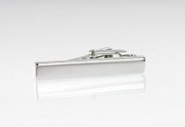 Slipsenål i højglans stål -sølvfarvet