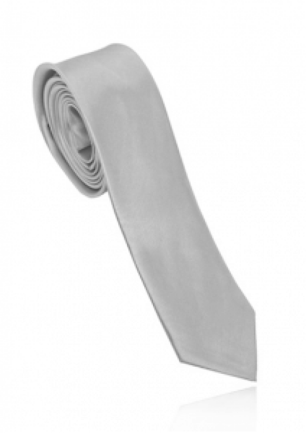 Smalt sølv slips