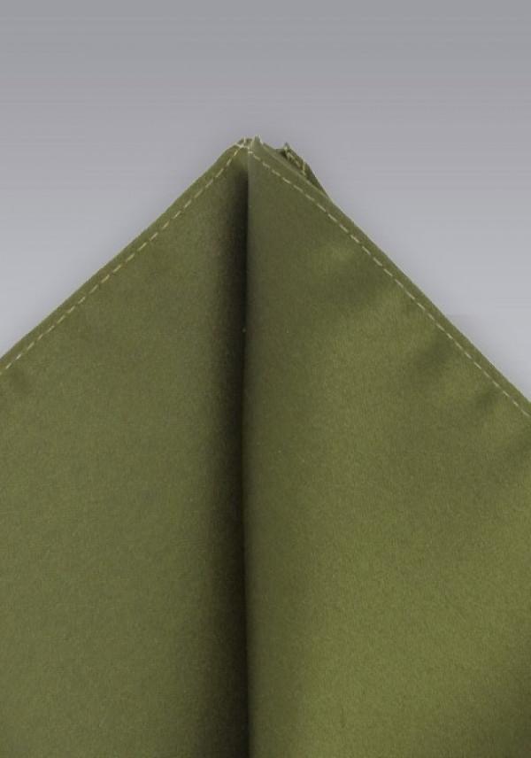 Støvet-grøn silkeklud