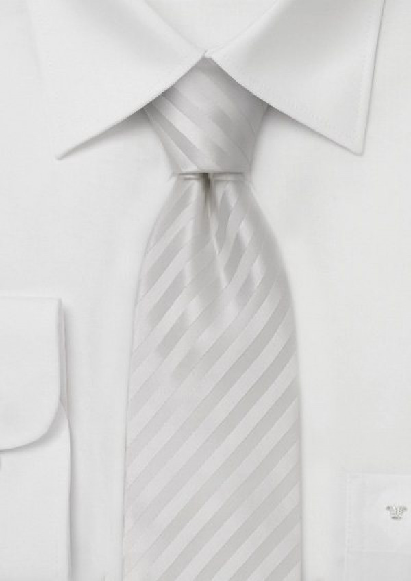 Flot sølv silkeslips med striber